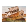 Limited Edition Print of a Deserted Boat Tied Up on an Unkempt Bank by Galway Artist Pat Flannery.jpeg