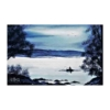 An Original Painting of Tranquil Evening Fisherman on Restful Waters Around Pontoon by Galway Artist Pat Flannery.jpeg