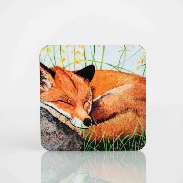 Coaster Set with Painting of an Irish Fox Homeware Gifts.jpeg