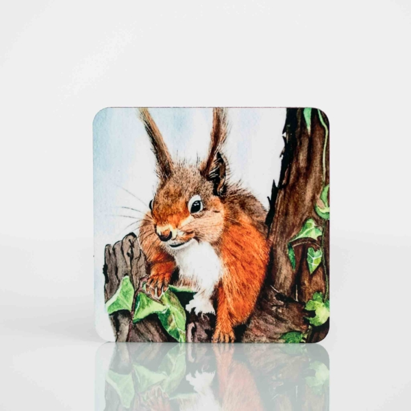 Coaster Set with Painting of a Squirrel Homeware Gifts.jpeg