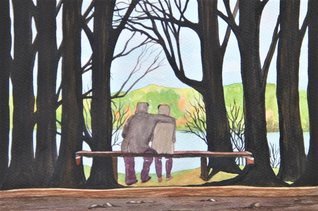 An Original Watercolour Painting Capturing the Precious Moments of Togetherness by Galway Artist Pat Flannery.jpeg