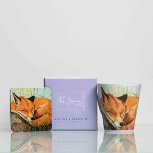 Mug and Coaster Set with Painting of an Irish Fox Homeware Gifts.jpeg
