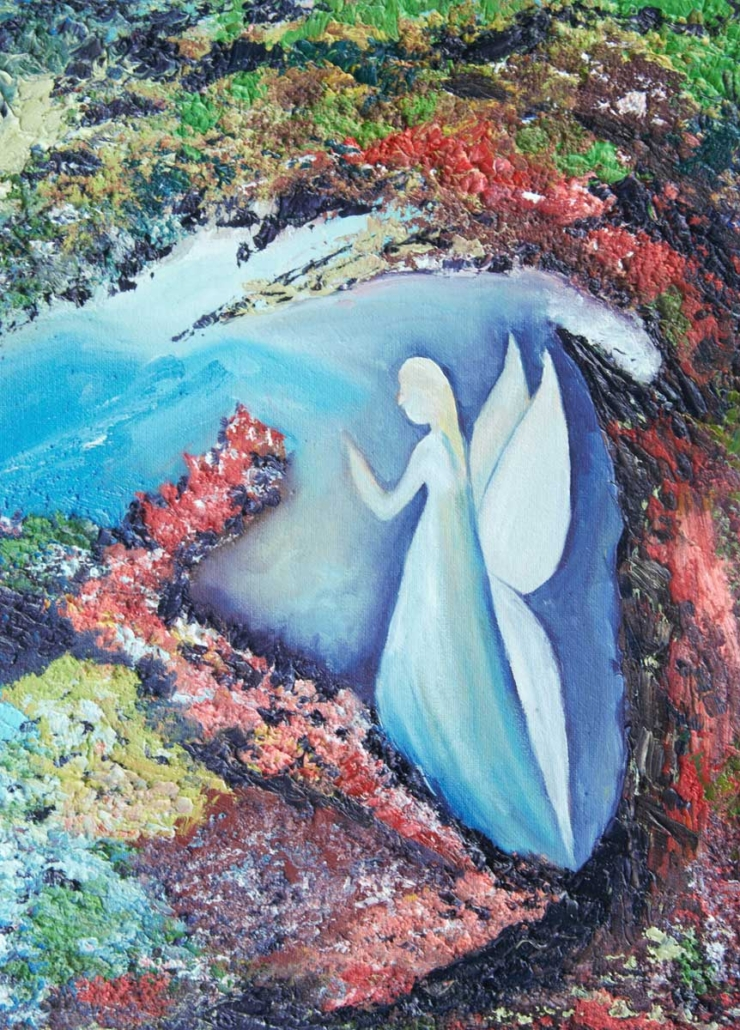 An Original Painting of an Abstract Mystic Angel in Watercolour by Galway Artist Pat Flanery.jpeg