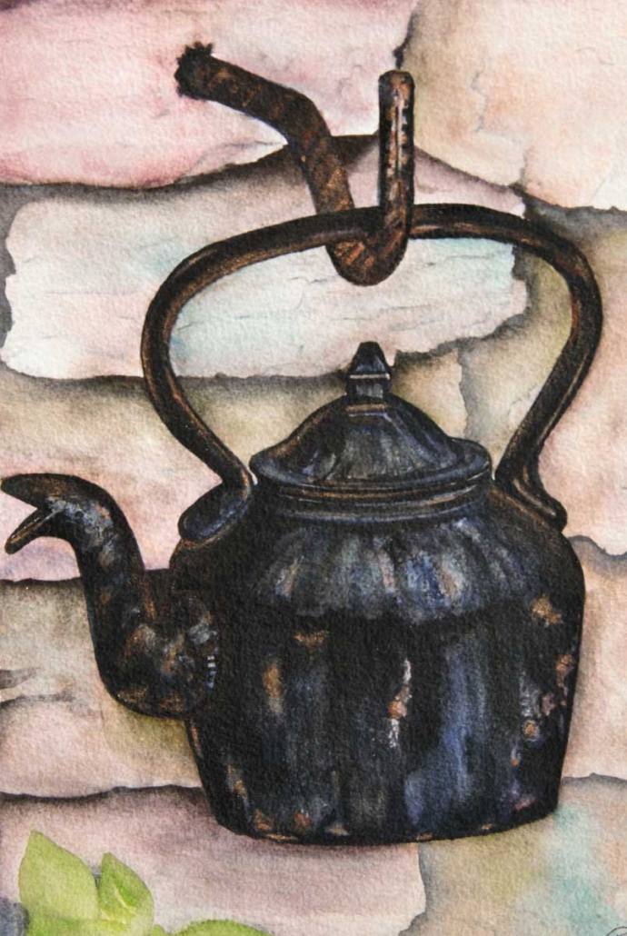 An Original Painting of an Antique Kettle in Watercolour by Galway Artist Pat Flanery.jpeg