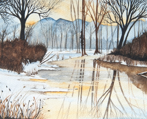 An Original Watercolour Painting of Snowy Scene by Galway Artist Pat Flannery.jpeg