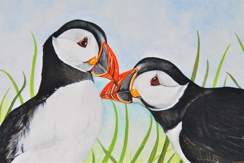 An Original Watercolour Painting of Love Bids Depicting Togetherness by Galway Artist Pat Flannery.jpeg