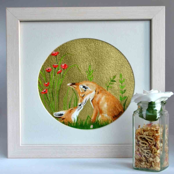 A Beautiful Framed Painting of Fox Cubs by Galway Artist Pat Flanery.jpeg