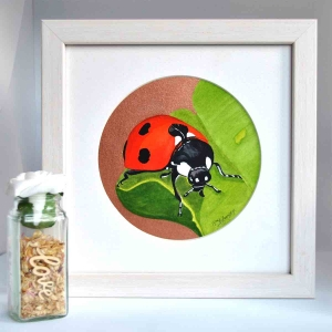 A Beautiful Framed Painting of Lady Bird by Galway Artist Pat Flanery.jpeg